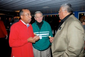 (L to r) Eric Eversley, New York, Mike Usdan, and David Snead (CT) enjoy cruise